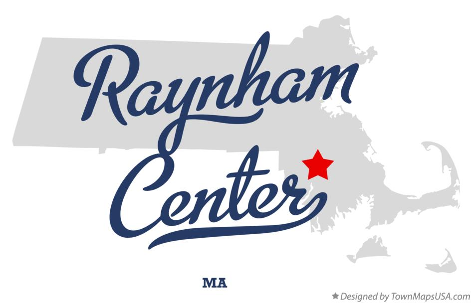 Map of Raynham Center Massachusetts MA