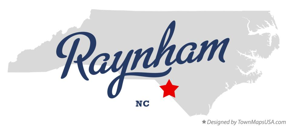 Map of Raynham North Carolina NC