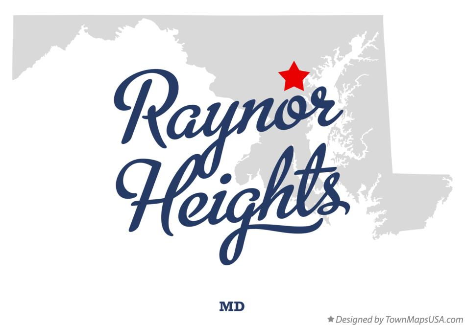 Map of Raynor Heights Maryland MD