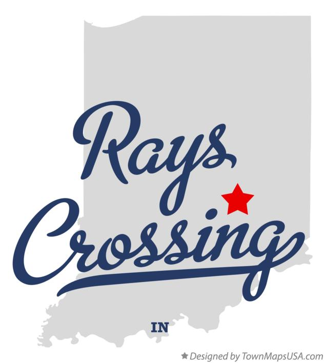 Map of Rays Crossing Indiana IN