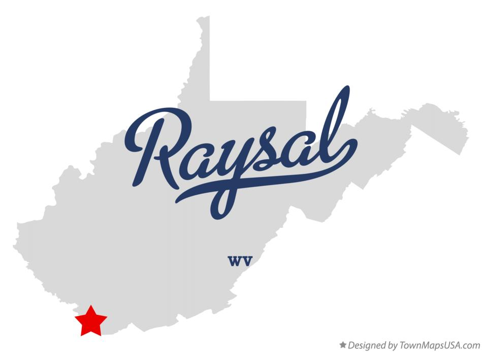 Map of Raysal West Virginia WV