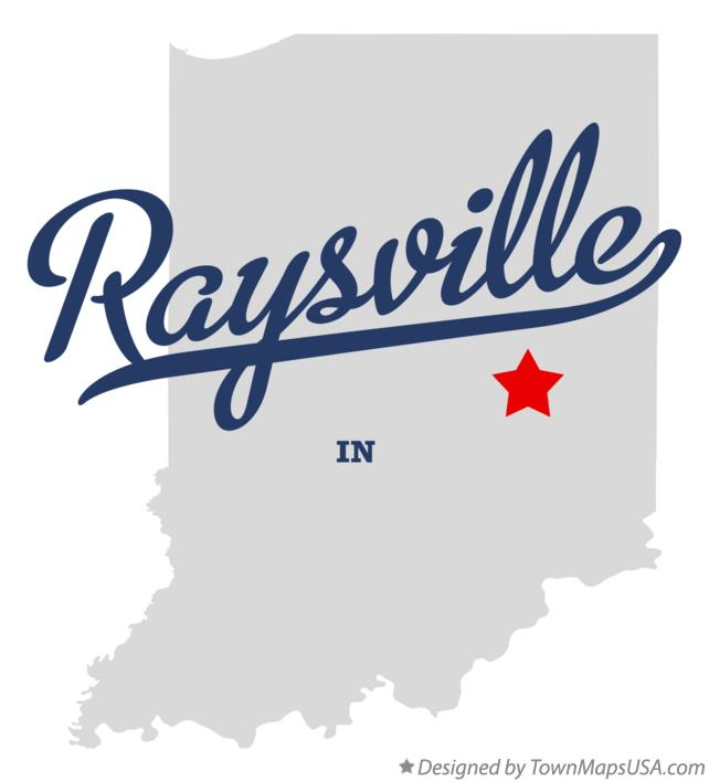 Map of Raysville Indiana IN