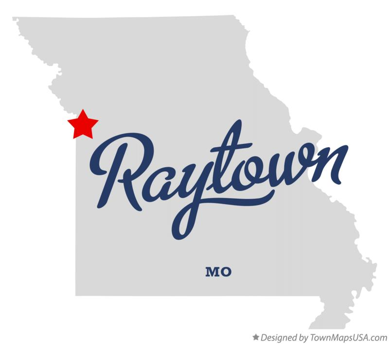 Map of Raytown Missouri MO