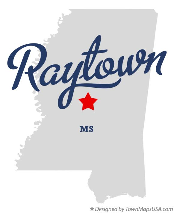 Map of Raytown Mississippi MS