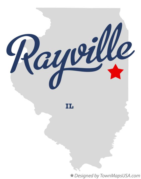 Map of Rayville Illinois IL