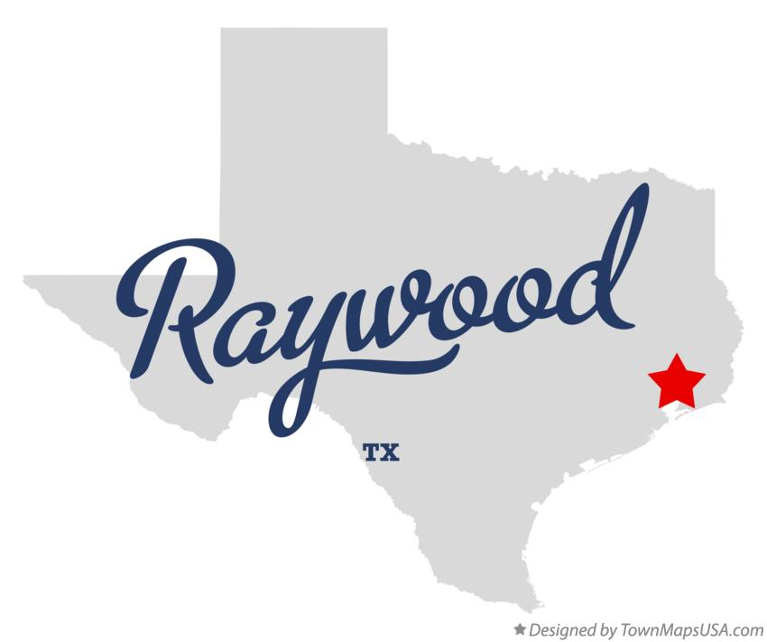 Map of Raywood Texas TX