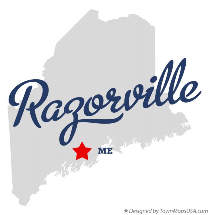 Map of Razorville Maine ME