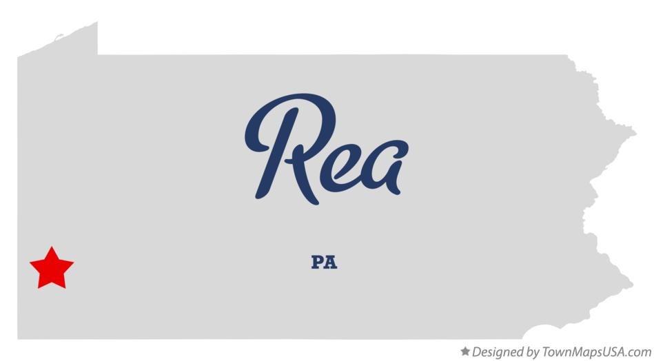 Map of Rea Pennsylvania PA