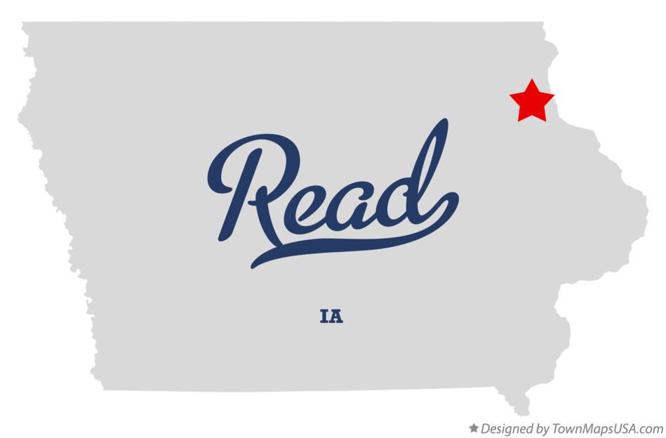 Map of Read Iowa IA