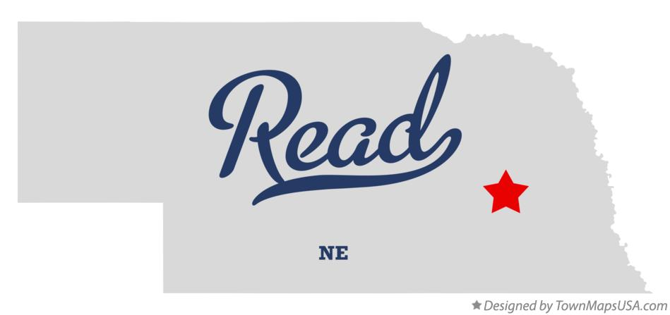 Map of Read Nebraska NE