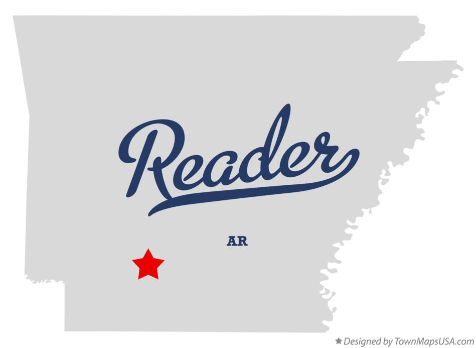 Map of Reader Arkansas AR