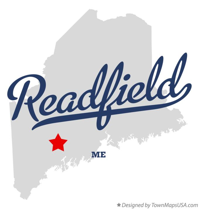 Map of Readfield Maine ME
