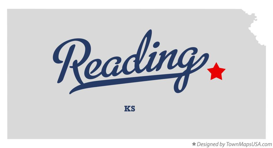 Map of Reading Kansas KS