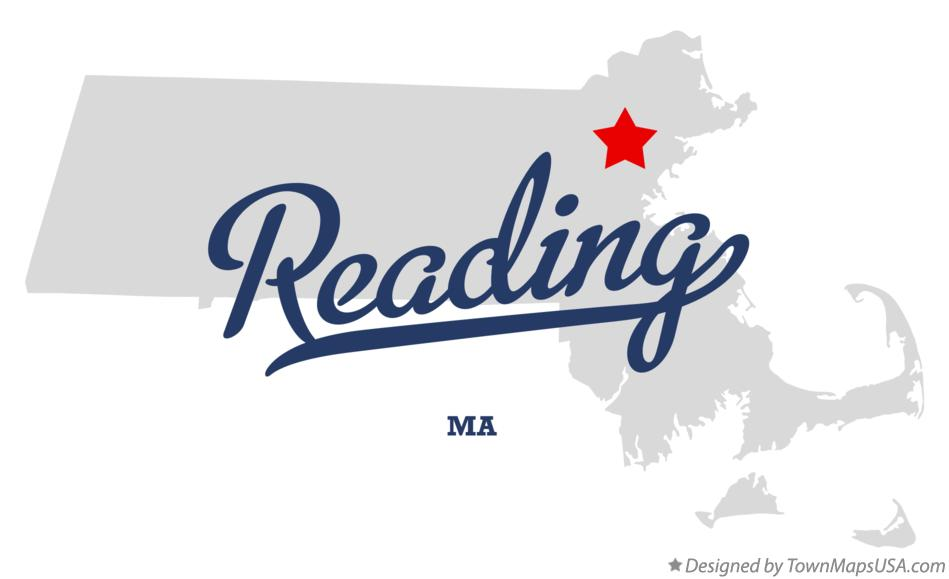 Map of Reading Massachusetts MA