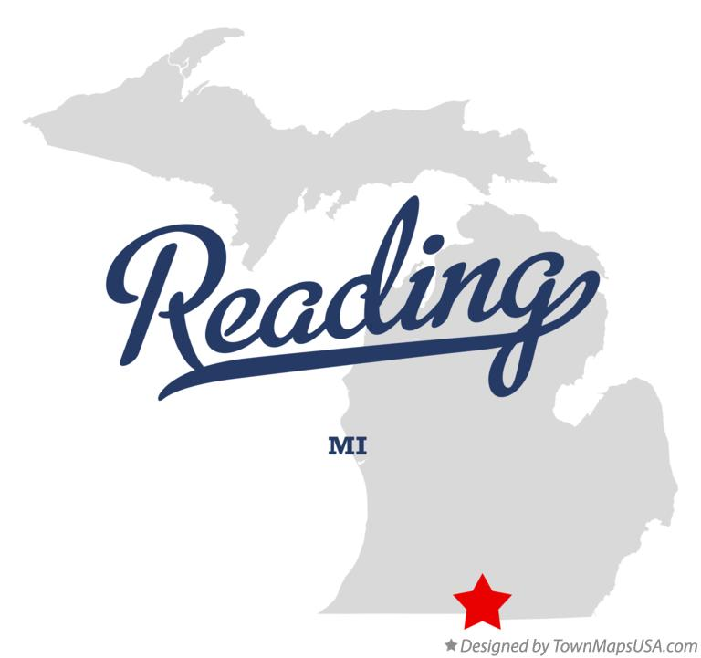 Map of Reading Michigan MI