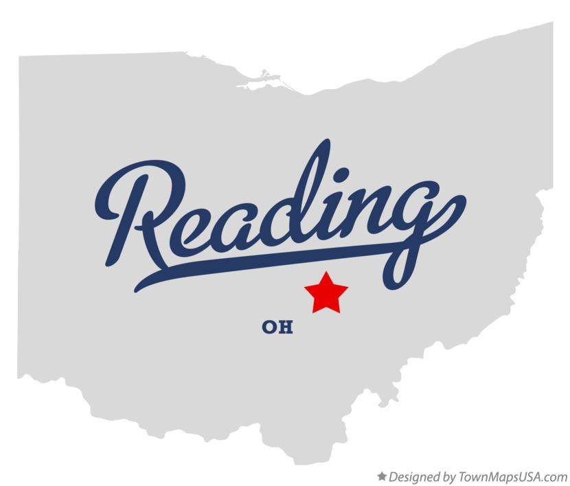 Map of Reading Ohio OH