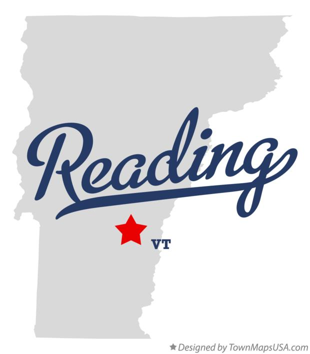 Map of Reading Vermont VT