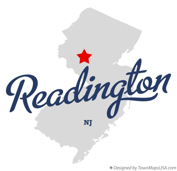 Map of Readington New Jersey NJ