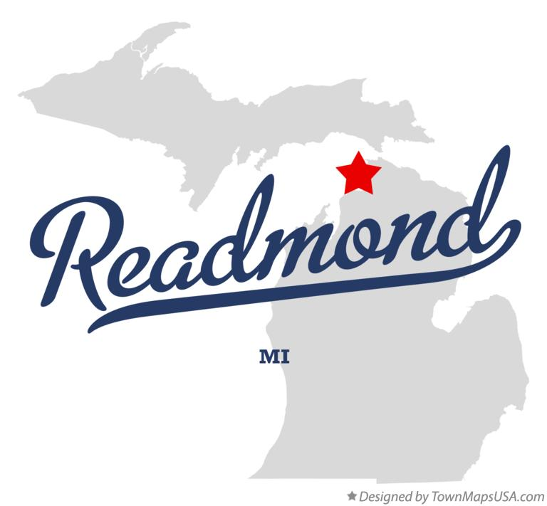 Map of Readmond Michigan MI