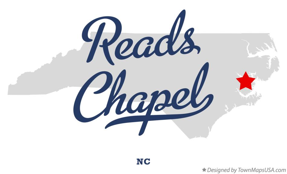Map of Reads Chapel North Carolina NC