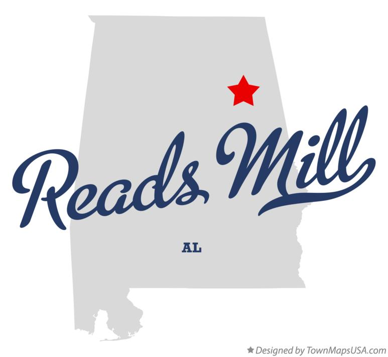 Map of Reads Mill Alabama AL