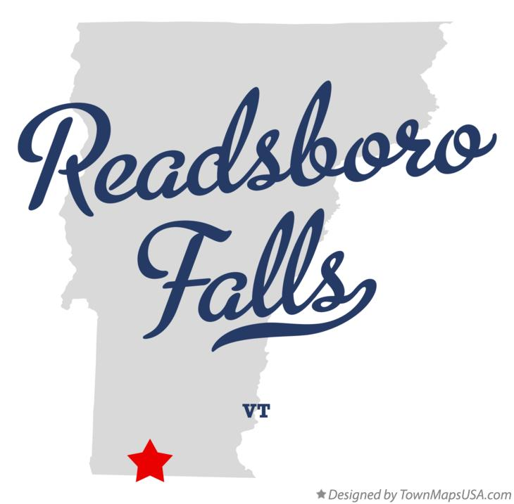 Map of Readsboro Falls Vermont VT