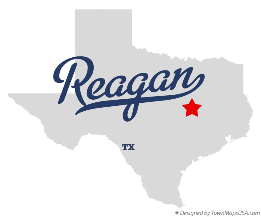 Map of Reagan Texas TX