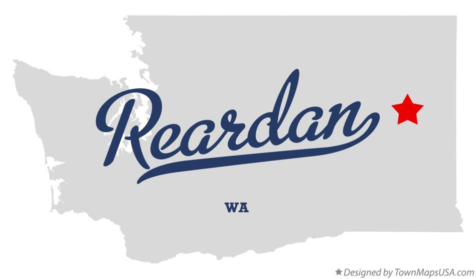 Map of Reardan Washington WA