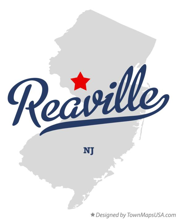 Map of Reaville New Jersey NJ