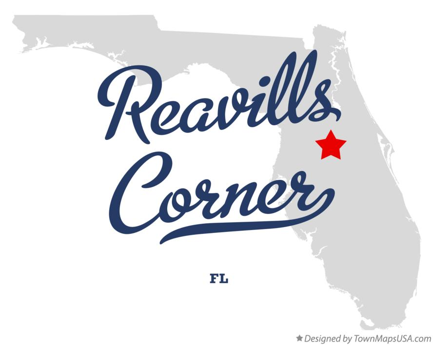 Map of Reavills Corner Florida FL