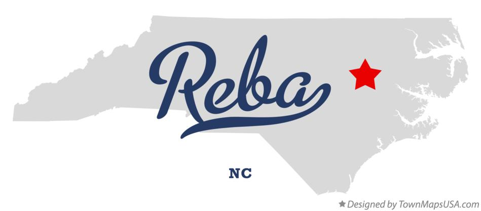 Map of Reba North Carolina NC