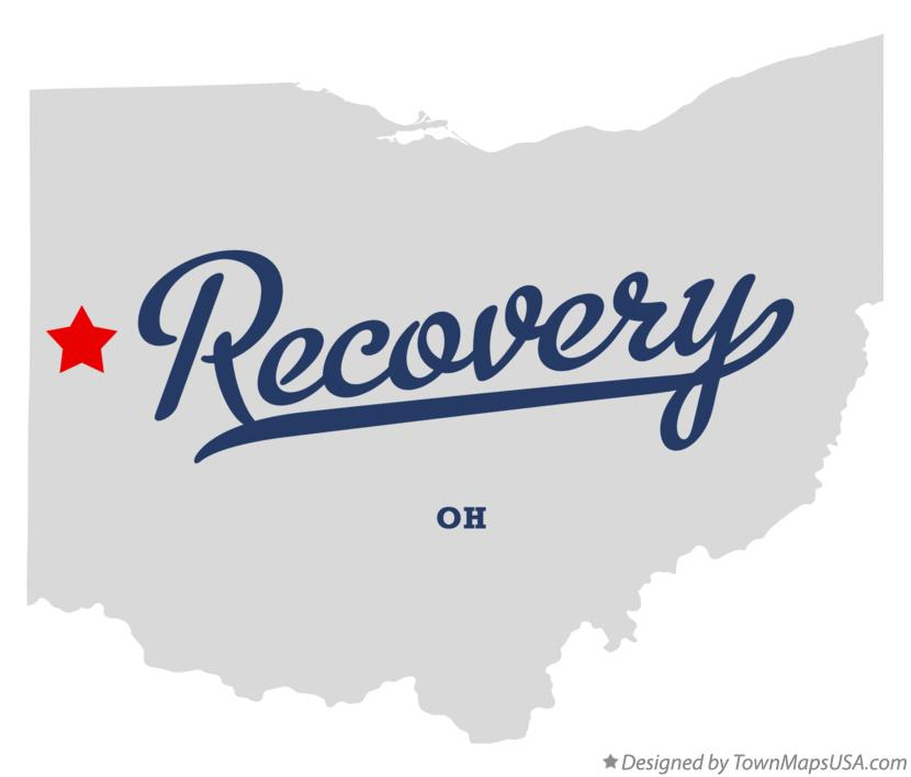 Map of Recovery Ohio OH