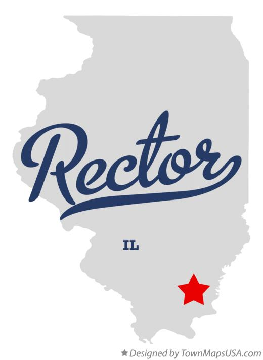 Map of Rector Illinois IL