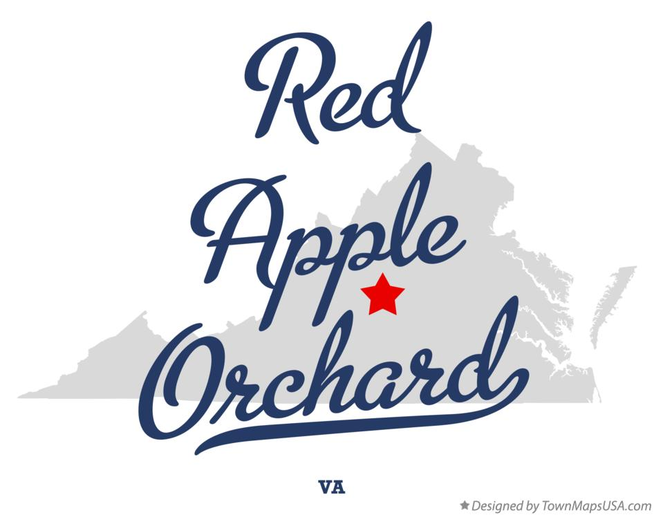Map of Red Apple Orchard Virginia VA