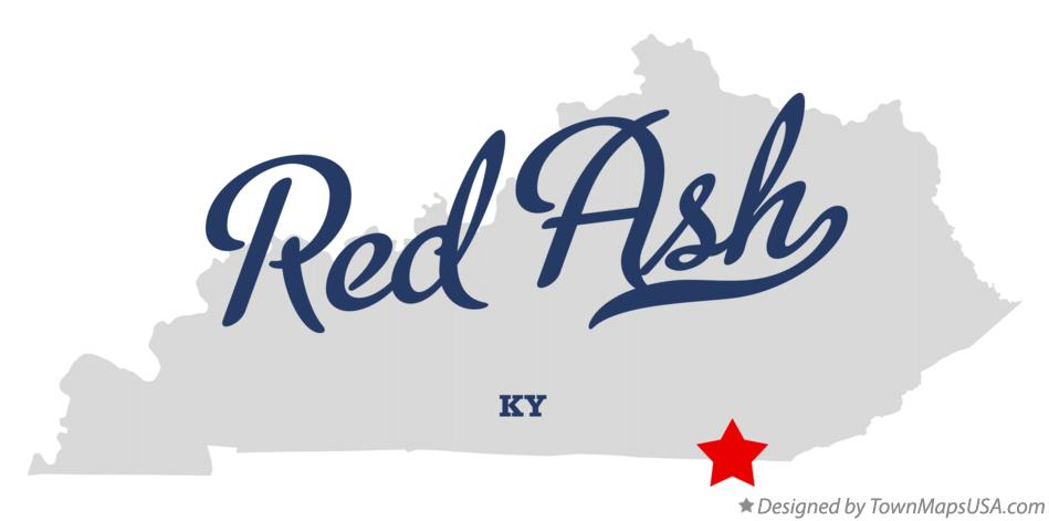 Map of Red Ash Kentucky KY
