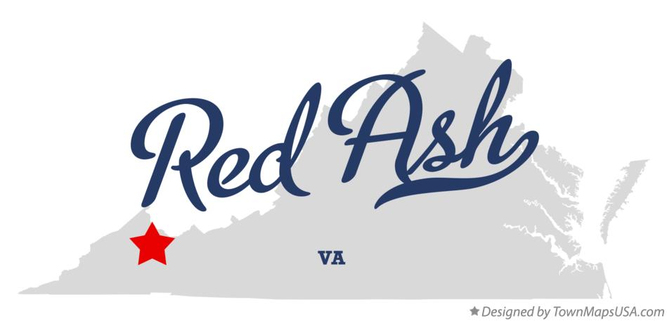 Map of Red Ash Virginia VA