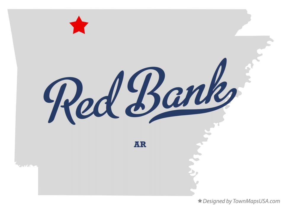 Map of Red Bank Arkansas AR