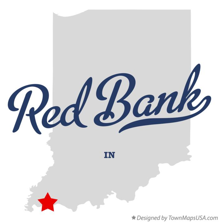 Map of Red Bank Indiana IN