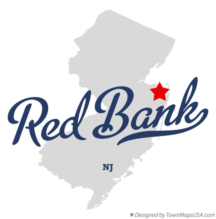 Map of Red Bank New Jersey NJ