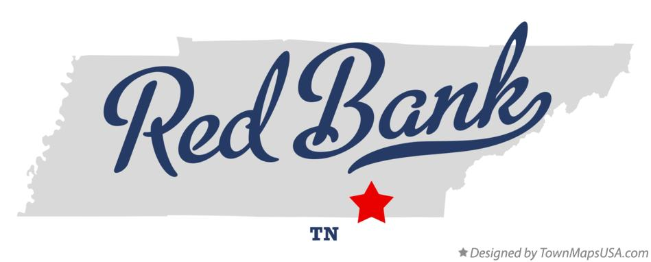Map of Red Bank Tennessee TN
