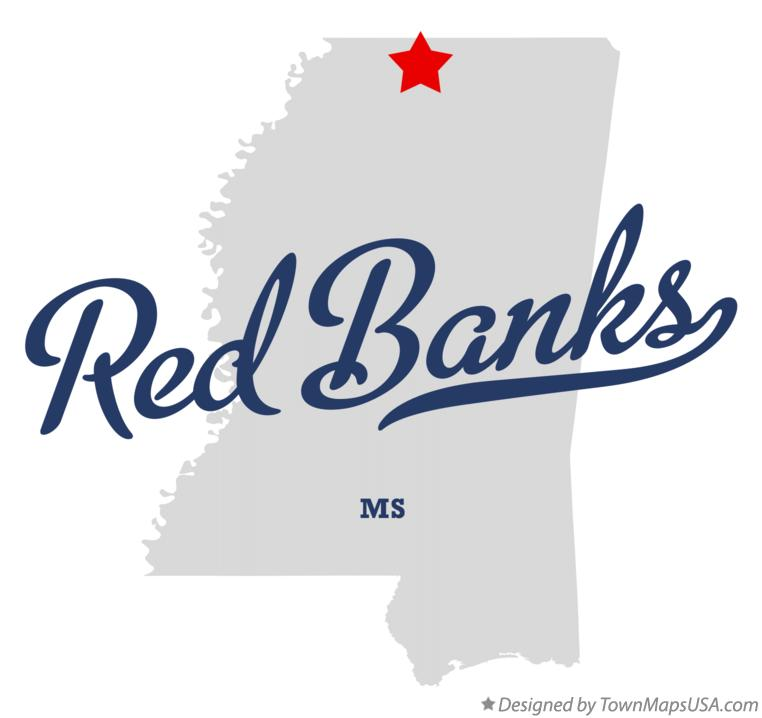 Map of Red Banks Mississippi MS