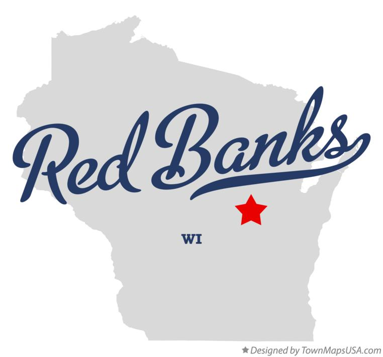 Map of Red Banks Wisconsin WI
