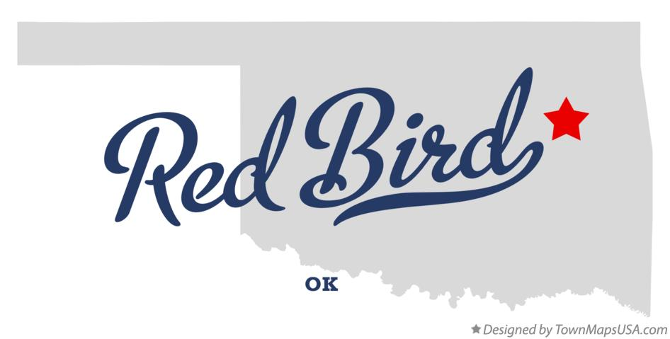 Map of Red Bird Oklahoma OK