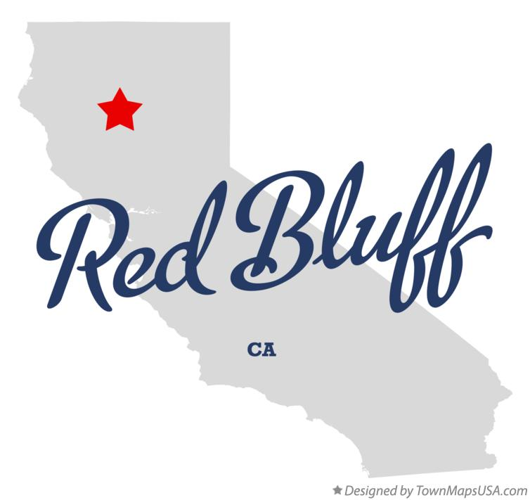 map of red bluff california