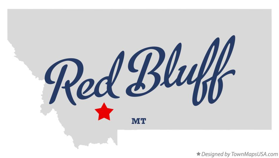 Map of Red Bluff Montana MT