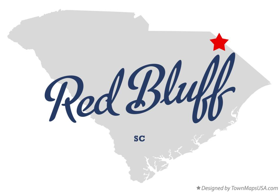 Map of Red Bluff South Carolina SC