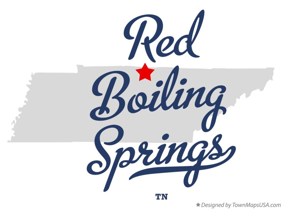 Map of Red Boiling Springs Tennessee TN