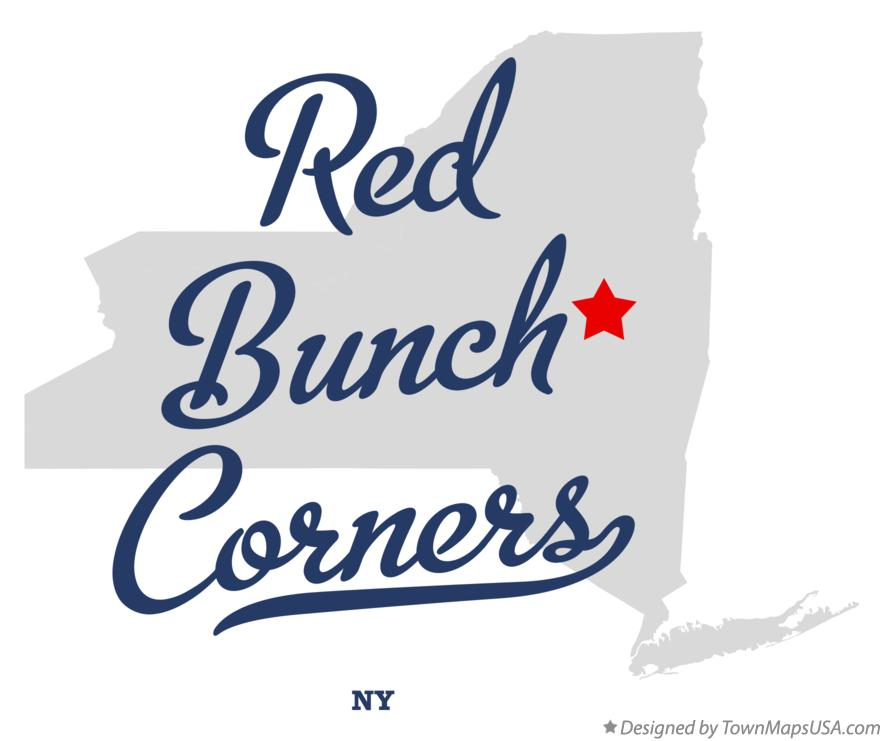 Map of Red Bunch Corners New York NY