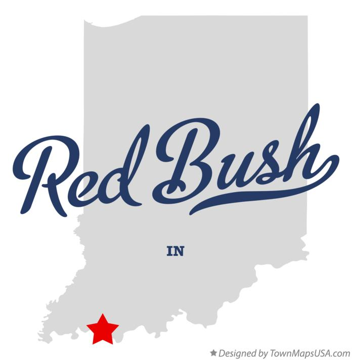Map of Red Bush Indiana IN