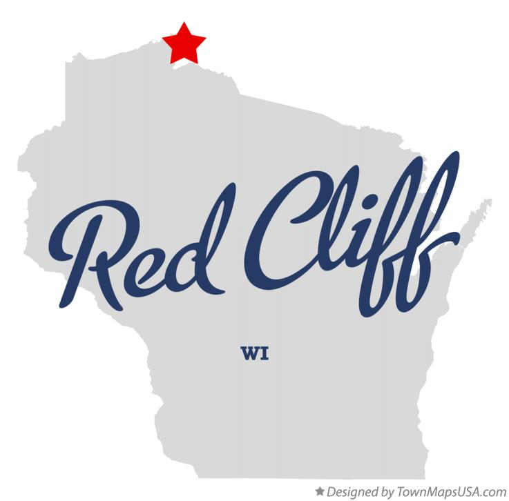 Map of Red Cliff Wisconsin WI